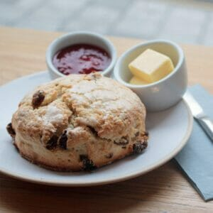 Scone With Cream and Homemade Jam